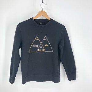Poler women's small sweatshirt black